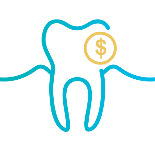 image of tooth icon with dollar sign