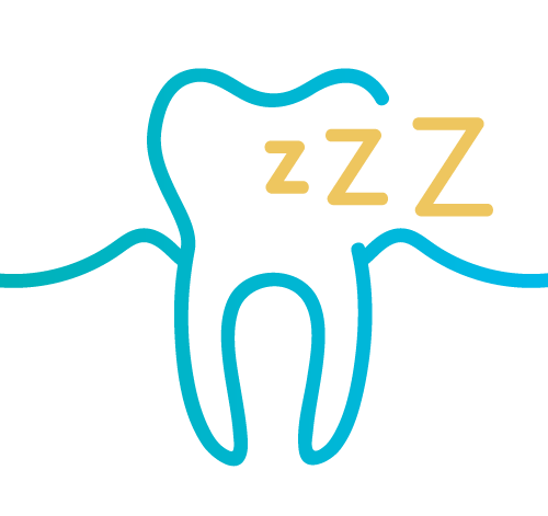 image of tooth with snoring icon