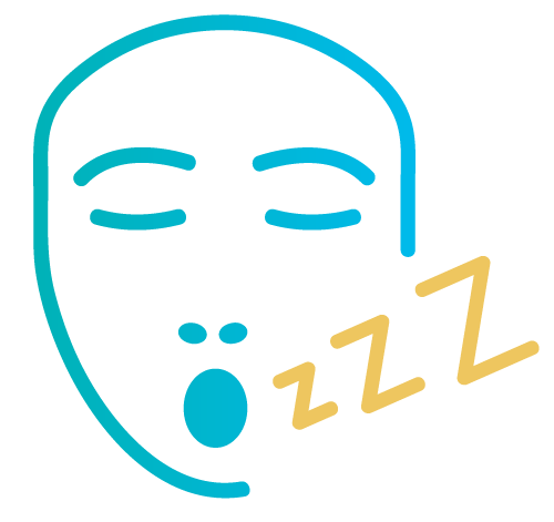 image of icon with sleeping face and snoring symbol